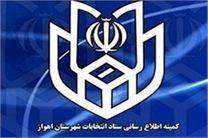 انتشار نتایج اولیه انتخابات شورای شهر اهواز