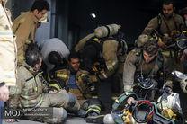 آخرین وضعیت ساختمان آتش گرفته وزارت نیرو اعلام شد/ آتش نشانان منتظر پایین آمدن درجه حرارت ساختمان