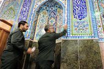 عطر افشانی مساجد چادگان به مناسبت ماه رمضان