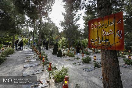 روز یازدهم ماه محرم در کنار مزار شهدای دفاع مقدس