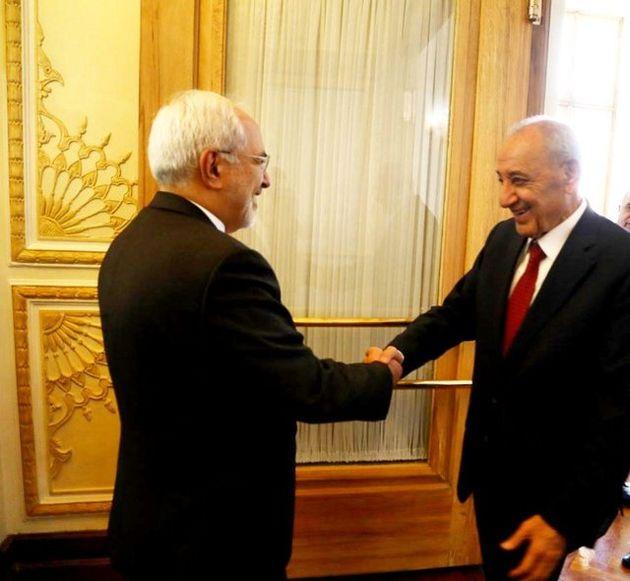 ظریف با رئیس مجلس لبنان دیدار کرد