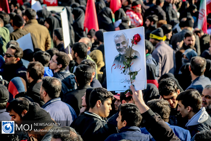 تشییع پیکر سپهبد شهید قاسم سلیمانی در تهران (۲)