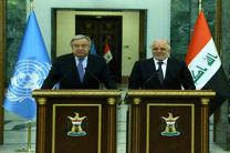 العبادی: تلاش می کنیم پرونده فصل 7 عراق در سازمان ملل مختومه شود