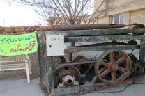 توقیف یک دستگاه حفاری غیر مجاز چاه آب در استان اصفهان