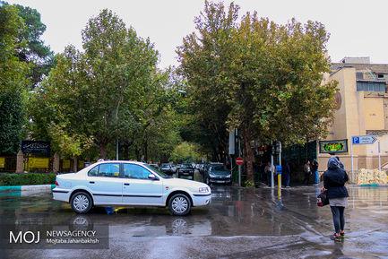 باران پاییزی در میدان امام (ره) اصفهان