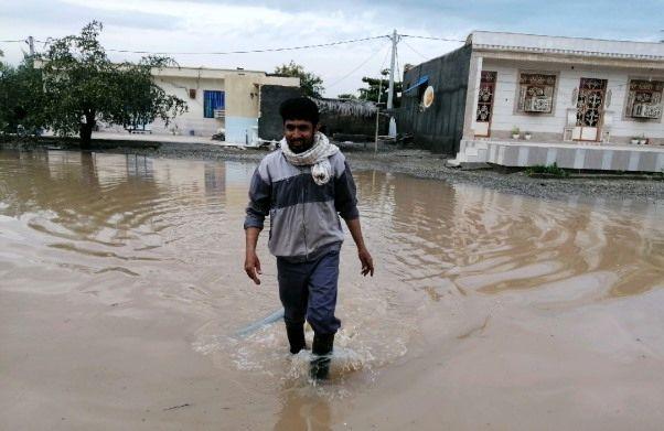 تشریح آخرین وضعیت سیلاب در روستای چاه اسماعیل میناب