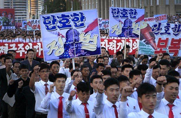 تظاهرات در کره شمالی علیه ترامپ