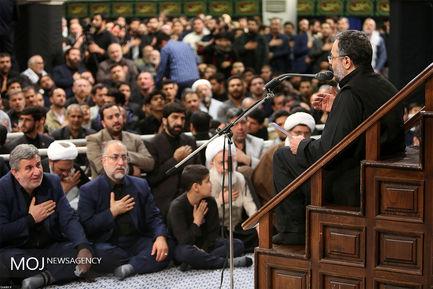 سومین شب عزاداری ایام فاطمیه با حضور مقام معظم رهبری