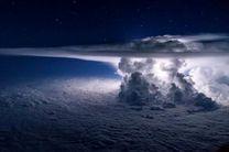 تصاویر ابرهای سهمگین بر فراز اقیانوس آرام ثبت شده اند