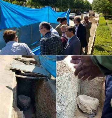 کشف چاه سنگی دوره ساسانی در تپه اشرف اصفهان