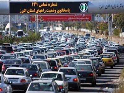 ترافیک سنگین در راه های البرز