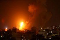 نیروی هوایی رژیم صهیونیستی مناطقی در نوار غزه را بمباران کرد