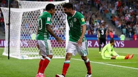 فوتبال جام کنفدراسیونها؛ مکزیک به سختی بر نیوزلند غلبه کرد