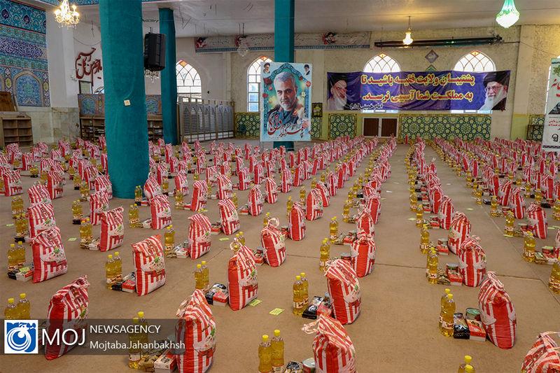 توزیع 200 بسته معیشتی بین نیازمندان در امامزاده آقا علی عباس