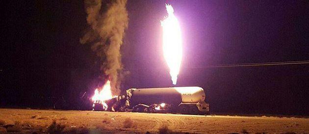 انفجار بونکر گاز مصدوم  و خسارت به جا گذاشت