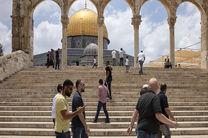 حمله نیروهای رژیم صهیونیستی به نمازگزاران فلسطینی در مسجد الاقصی