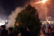 آتشسوزی یک اصله درخت در میدان نقشجهان اصفهان