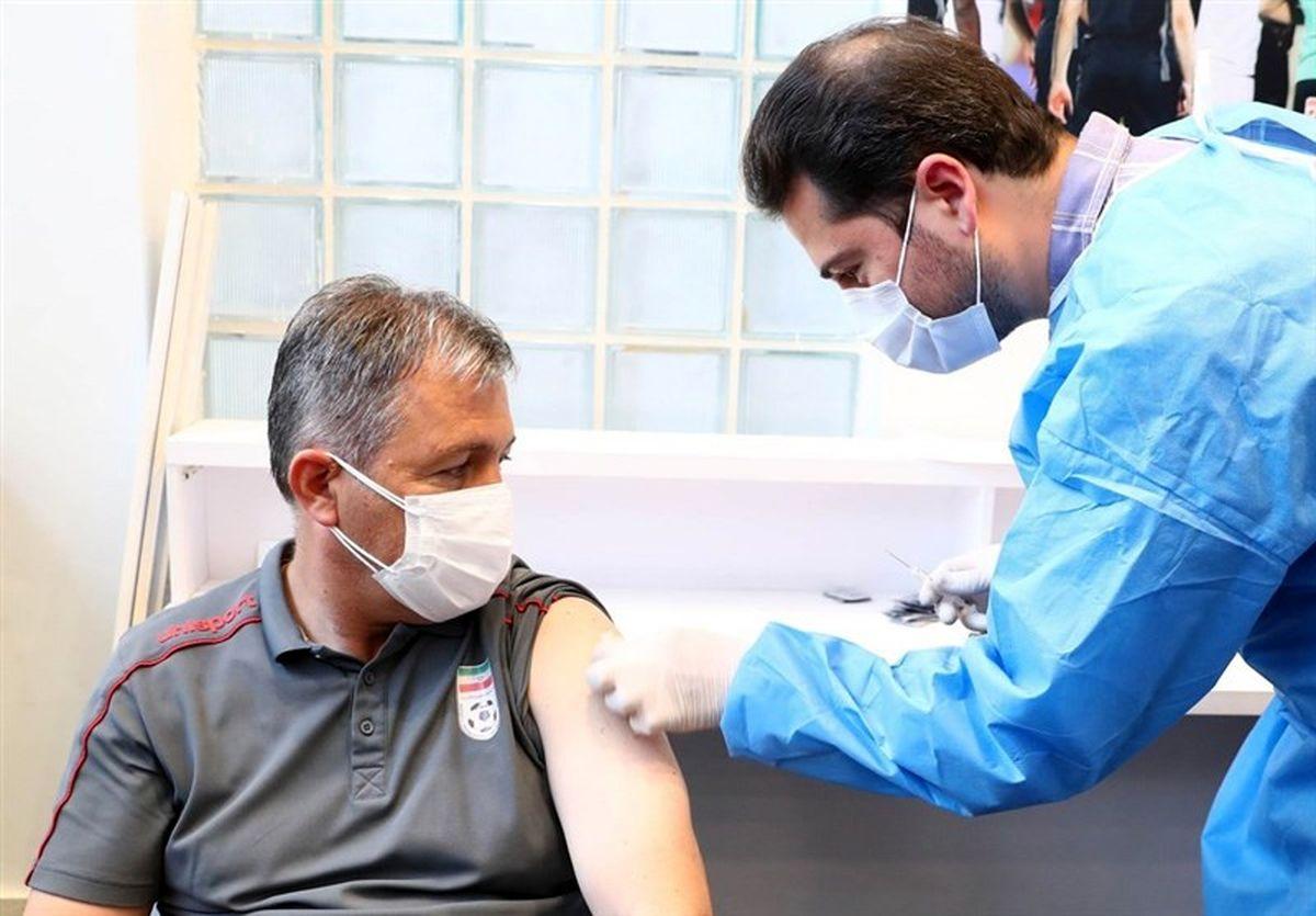 بازیکنان تیم ملی فوتبال که هنوز واکسن کرونا را دریافت نکرده اند، واکسینه میشوند