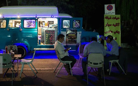 عطر قهوه و کافه ون در بوستان آبشار/اجرای طرح حیات شهر با هدف اشتغالزایی