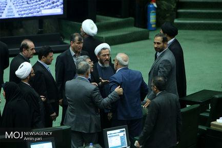 تنش در صحن علنی مجلس شورای اسلامی -  ۱۱ مهر ۱۳۹۷