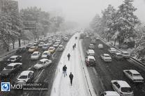 بارش برف پاییزی در تهران (۱)