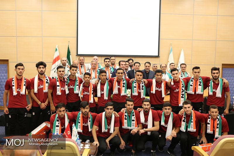 پیراهن تیم ملی فوتبال امید  برای بازی با عربستان رونمایی شد