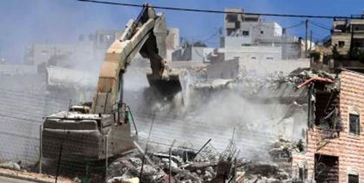 تخریب بنای غیر مجاز در سنندج براساس حکم قضایی
