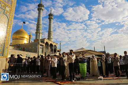 نماز عید سعید قربان  در حرم مطهر بانوی کرامت