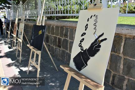 نمایشگاه خیابانی کاریکاتور در سرعین
