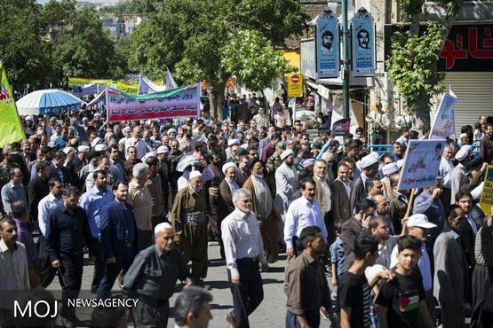 تشکر از حضور باشکوه مردم کردستان در راهپیمایی روز قدس
