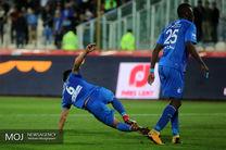 پیروزی استقلال مقابل سپاهان در نیمه اول