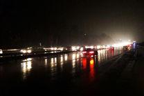 ترافیک نیمه سنگین در ورودی های شرقی پایتخت