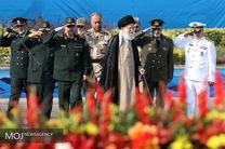مراسم مشترک دانش آموختگی دانشجویان دانشگاههای افسری ارتش با حضور مقام معظم رهبری