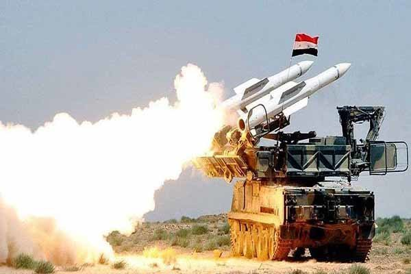 پاسخ پدافند سوریه به حمله رژیم صهیونیستی به دمشق