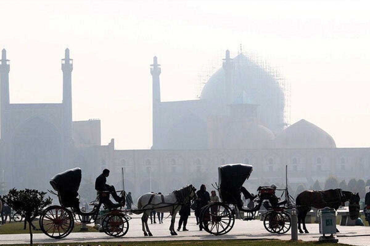 کیفیت هوای اصفهان برای عموم ناسالم است / شاخص کیفی هوا 151