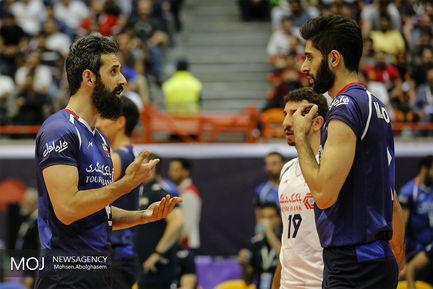 دیدار تیم های والیبال ایران و صربستان