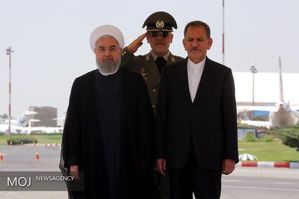 بدرقه رسمی رییس جمهوری پیش از سفر به 2 کشور اروپایی