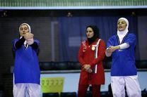 حضور تیم های ملی کشتی سنتی بانوان ایران در بازیهای داخل سالن آسیا