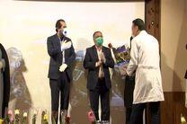 قدردانی مسئولین شهرستان لنجان از کادر درمان بیمارستان شهید مطهری ذوب آهن اصفهان
