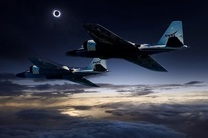 استفاده از دو فروند جنگنده برای رصد کسوف توسط ناسا