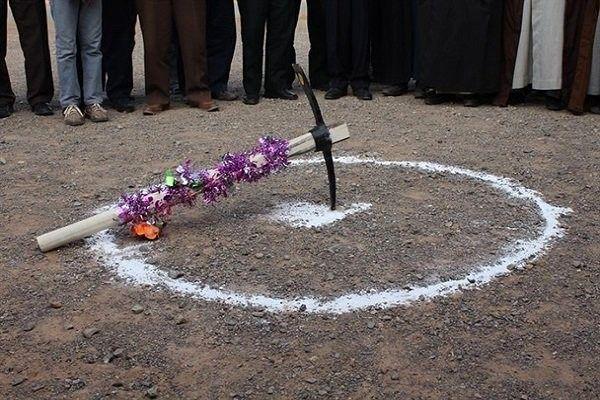 کلنگ احداث 7 مدرسه در منطقۀ سنگان به زمین زده شد