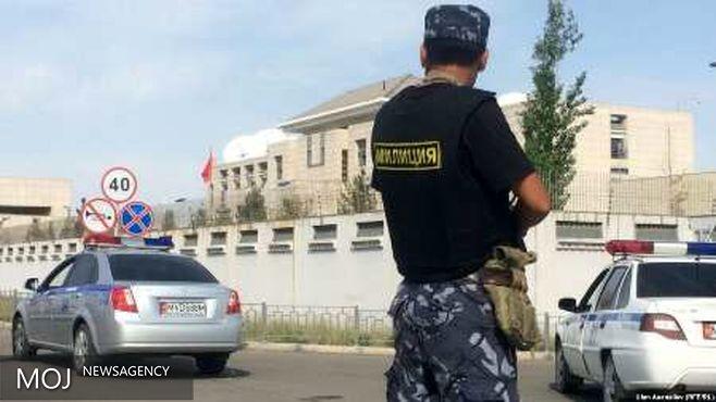 انفجار نزدیک سفارت چین در قرقیزستان + عکس