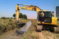 لایروبی 15 کیلومتر از کانالهای سنتی کشاورزی گلوگاه