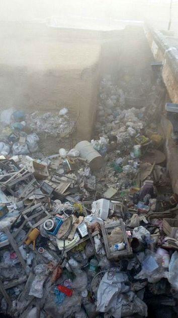 حریق در مخروبهای با بیش از 100 تن زباله در وسط شهر میاندوآب