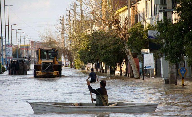 آخرین وضعیت سیلاب در آق قلا