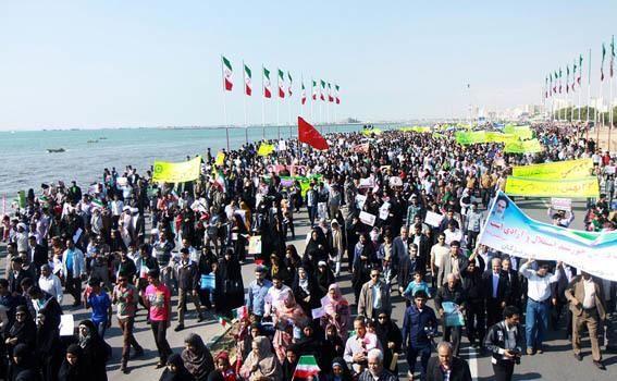 مسیر راهپیمایى ٢٢ بهمن در بندرعباس و شهرستان های هرمزگان اعلام شد