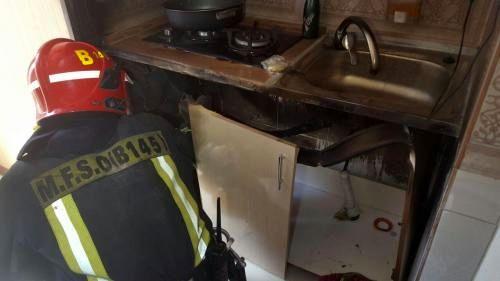 حریق در یک مجموعه اقامتی به دلیل اتصال در سیستم سیمکشی فندک اجاق گاز