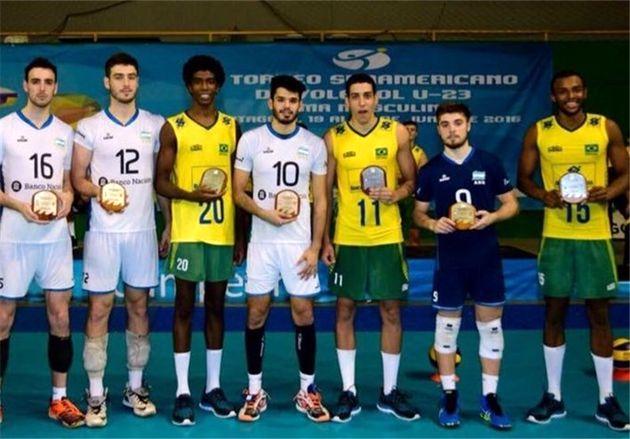 برزیل قهرمان مسابقات والیبال زیر ۲۳ آمریکای جنوبی شد