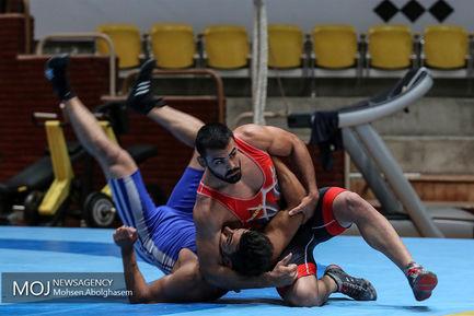 تمرین آماده سازی تیم ملی کشتی فرنگی بزرگسالان