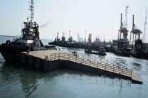 سه فروند اسکله شناور چند منظوره در بندر شهید رجایی ساخته شد